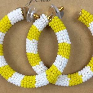 Alison Lou for J.Crew Beaded Hoop Earrings Yellow